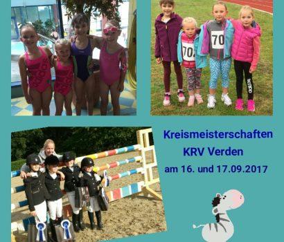 Blaue Schleife im Dreikampf für Mette Demmler, Celina Weis, Lilly und Lisa von Helldorf